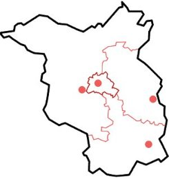 Gerichtsbezirke Verwaltungsgerichte Land Brandenburg